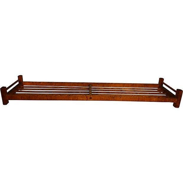 Image of Wooden Dowel Industrial Shoe Rack