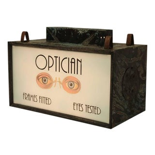 1930s Light Up Optician Sign