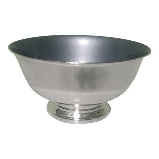 Paul Revere Blue Enamel Interior Silverplate Bowl