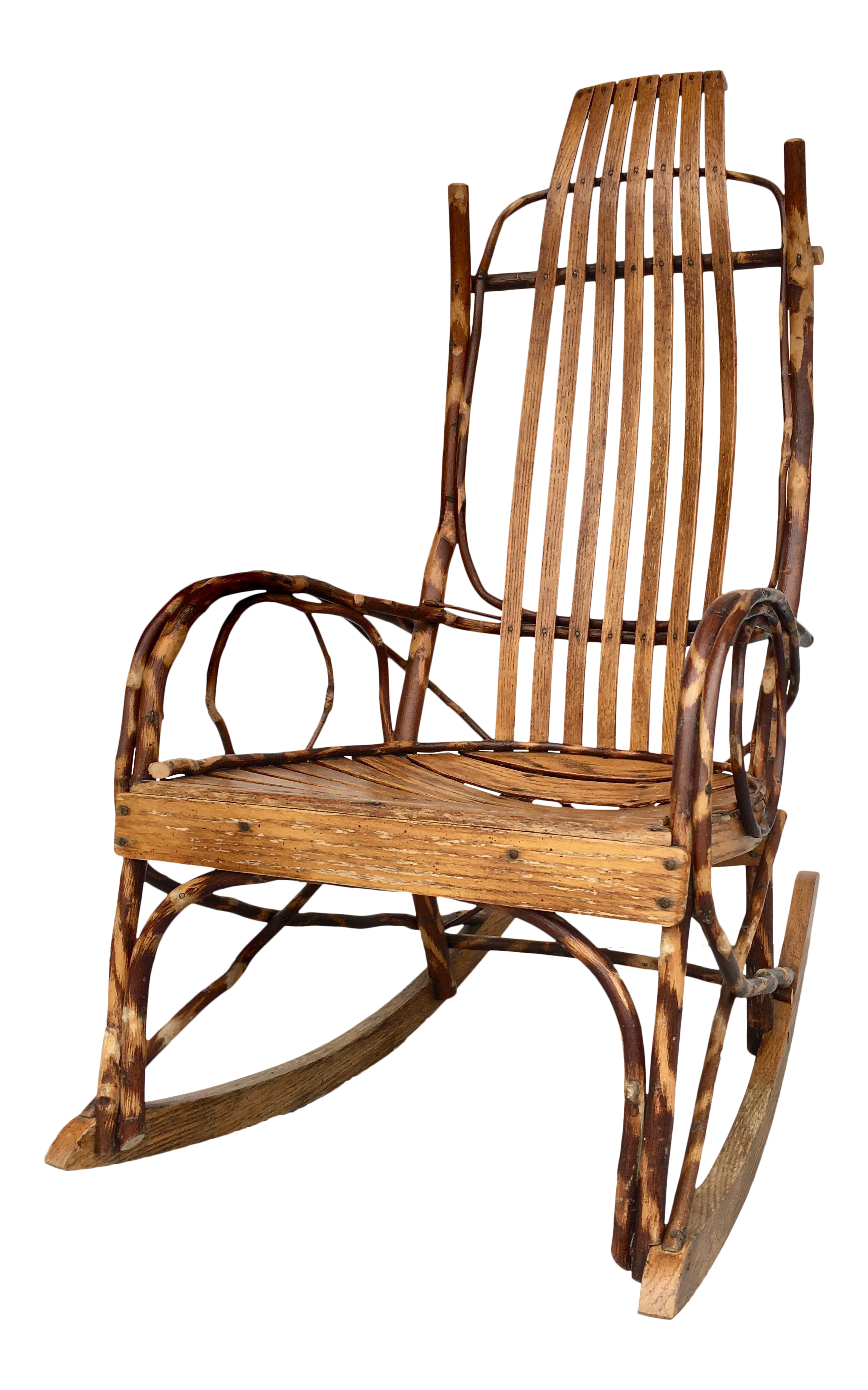 studio branch and wood rocking chair