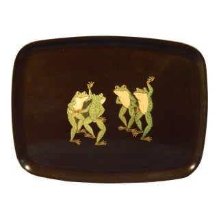 Couroc Tray with Frogs. Resin, Couroc, Monterey, California, 1960s.