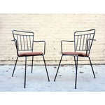 Image of Vintage Iron Modernist Chairs - A Pair