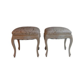 Louis XV Footstools -- A Pair
