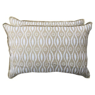 Modern Printed Linen Pillows - A Pair