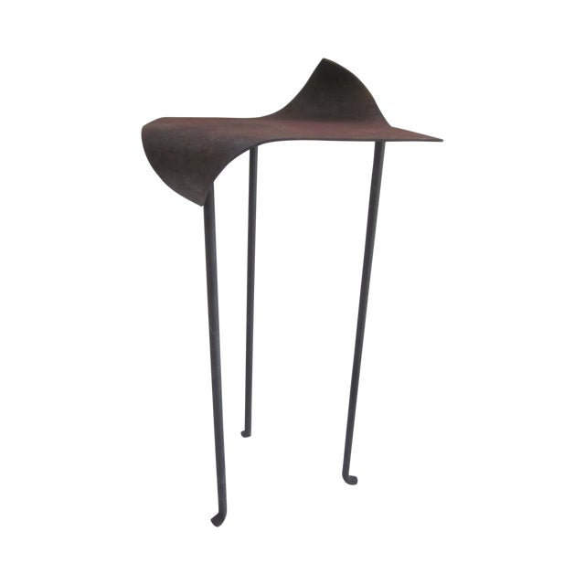 Image of Custom Modernist Sculptural Abstract Iron Table