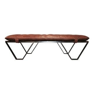 Versatile Metal & Leather Bench
