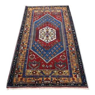 """Vintage Turkish Anatolian Handmade Fine Wool Rug - 3' X 5'11"""""""