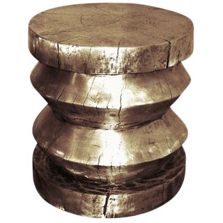 Customizable Cast Bronze Stool/Table designed by Craig Van Den Brulle