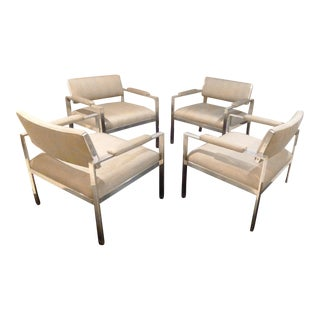Harvey Probber Flat Bar Chairs - Set of 4