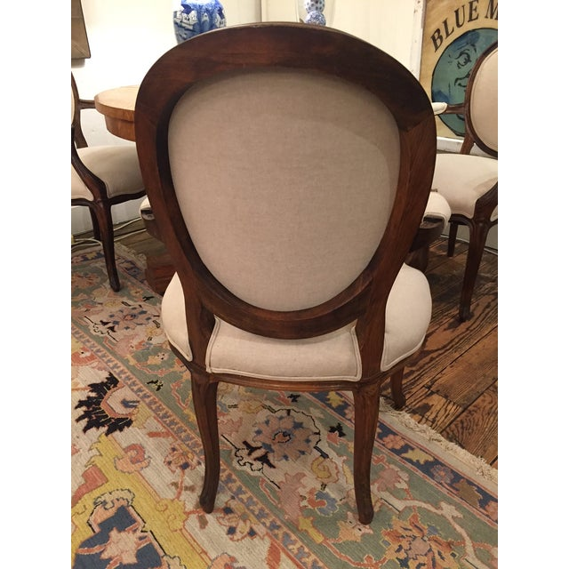 1920's French Dining Chairs With Arms - A Pair - Image 4 of 6