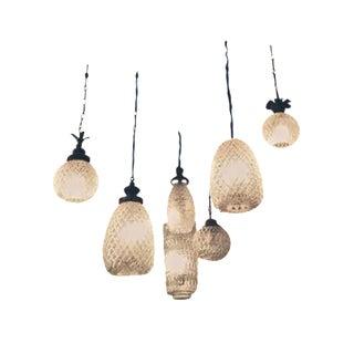 Antique Italian Glass Lanterns - Set of 7