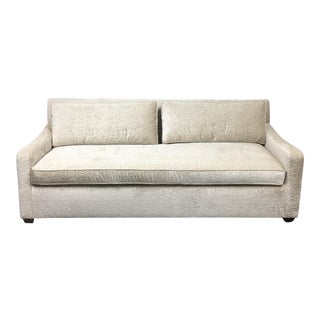 Fitzgerald of San Francisco Off White Velvet Sofa