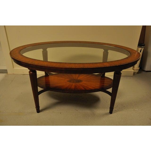 Maitland Smith Glass Mahogany Coffee Table Chairish
