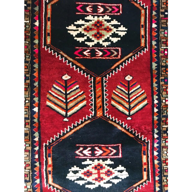 Antique Persian Wool Rug - 3′1″ × 12′2″ - Image 4 of 5