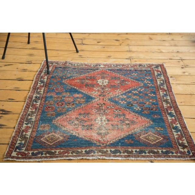 "Distressed Antique Persian Square Rug - 3'3""x3'10"" - Image 2 of 7"