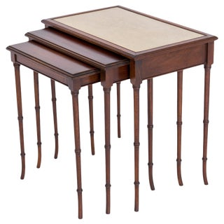 Faux Bamboo Nesting Tables, S/3