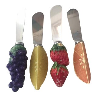 1970s Cheese Spreaders - Set of 4