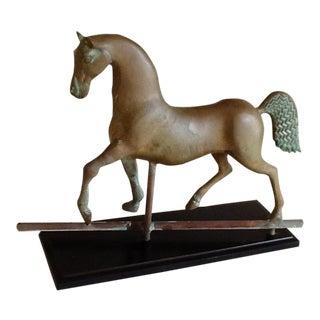 Vintage Brass Horse Sculpture