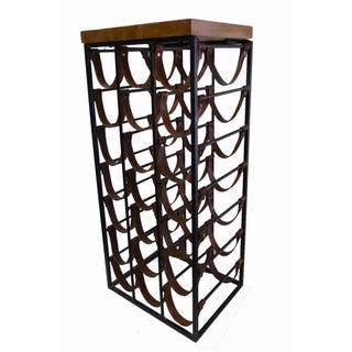 Arthur Umanoff Iron & Leather Wine Rack