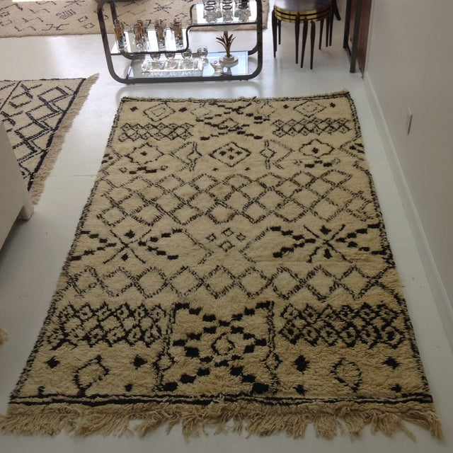 Authentic Moroccan Beni Ourain Rug - 5′5″ × 8′9″ - Image 2 of 6