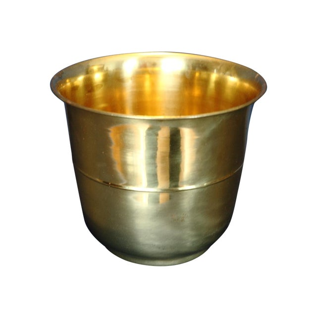 Image of Solid Brass Planter