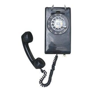 Vintage Black Rotary Wall Phone