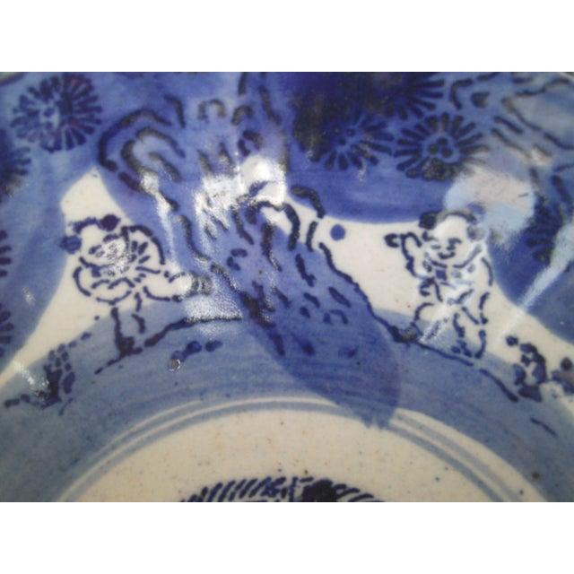Image of 19th Century Blue & White Oriental Bowl