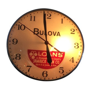 Vintage Advertising Bulova Clock