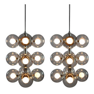 Lightolier Sputnik Chandeliers - A Pair