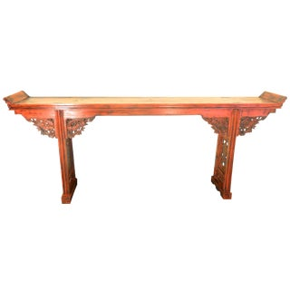 Antique Chinese Red Altar Table