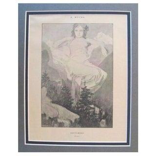 1899 Original Mucha Cocorico Illustration Sept.
