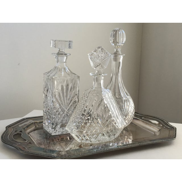 Vintage Silver Tray & Decanters - Set of 4 - Image 3 of 7