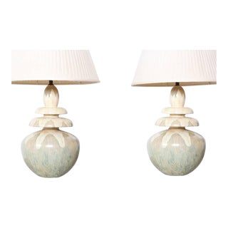 Pair of Hand Painted Table Lamps by Parish-Hadley