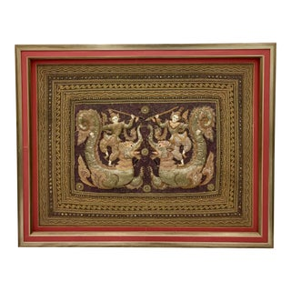 Gold Frame Kalaga Tapestry Artwork