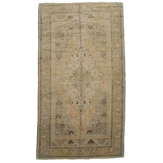 Antique Turkish Beige Rug - 7′ × 13′1″