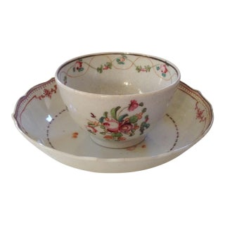18th C. Chinese Export Tea Cup and Saucer