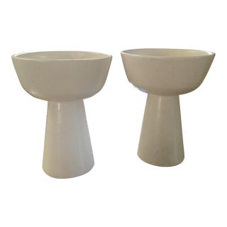 Gainey Architectural Pottery Planter Vases - Pair