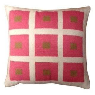 Jonathan Adler Pink Square Pillow