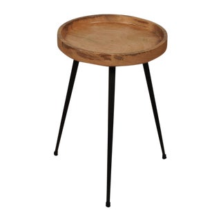Stil Wood & Steel Accent Table