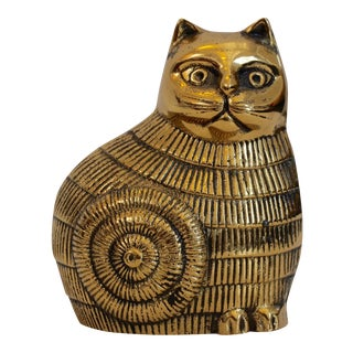 Brass Mid-Century Cat