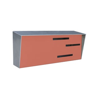 Modern Mailbox - Two Tone Stainless & Coral