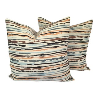 Multi-Colored Pillows - A Pair