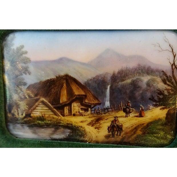 Handpainted Vignette Plaques of European Landscape - Image 6 of 8
