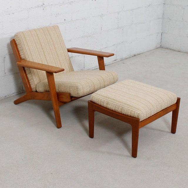 Hans Wegner For Getama Lounge Chair & Ottoman - Image 3 of 9