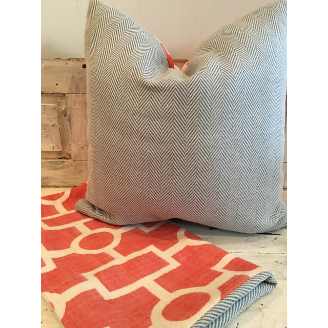 Geometric Coral and Off White Pillows - 2 - Image 5 of 5