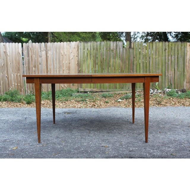 Mid-Century Danish Modern Walnut Surfboard Dining Table - Image 4 of 5