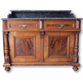 Antique French Marble-Top Sink Vanity