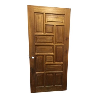 Mid-Century Solid Oak Door