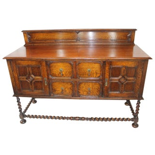 Large Antique Oak Jacobean Sideboard