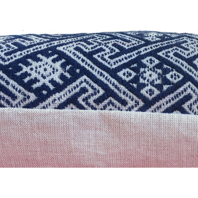 New Hmong Indigo Wedding Blanket Pillow - Image 3 of 4